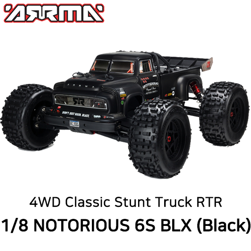 [입고완료]ARA106044T1 V4 ARRMA 1:8 NOTORIOUS 6S with Spektrum RTR, Black 100KM/H +