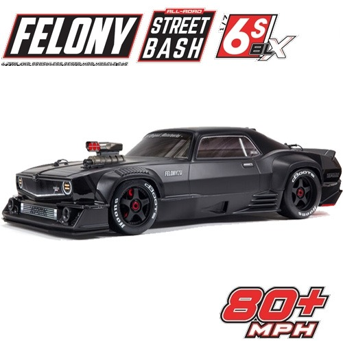 입고완료-당일출고 2020 ARRMA 1:7 FELONY 6S BLX Street Bash All-Road Muscle Truck RTR (Black) 펠로니