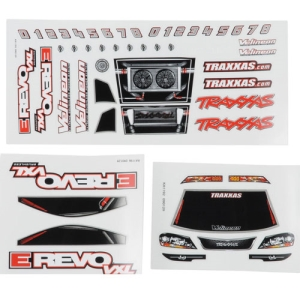 AX7113 Traxxas 1/16 E-Revo VXL Decal Sheet (3)