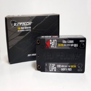 SUNPADOW Shorty Lipo 5100mah-7.4V-100C/50C (#SPD5100)