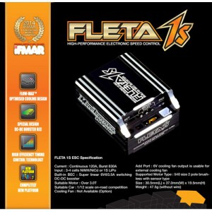 [ME-FL1SK] MUCH MORE FLETA 1S Brushless ESC Black
