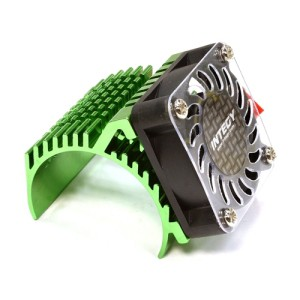 C25729GREEN Side 40x40mm HS Cooling Fan+Heatsink Mount for 40mm O.D. Motor (1:8 스케일)