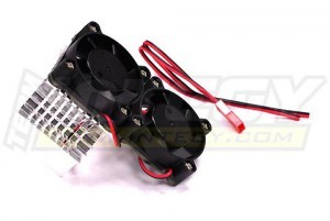 쿨링팬 Super Motor Heatsink+Twin Cooling Fan 750 for Traxxas Summit C23137SILVER