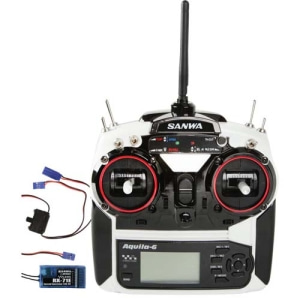 대폭할인상품!~[028172] Airtronics Aquila 6 6-Channel 2.4GHz Radio System w/RX71E FH1 Receiver