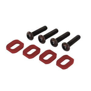 [AX7759R] Washers, motor mount, aluminum (red-anodized) (4)/ 4x18mm BCS (4)