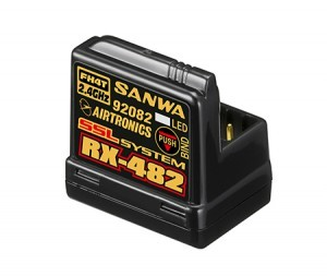 [030359] Sanwa RX-482 2.4Ghz FHSS-4 BUILT-IN ANTENNA (Telemetry)