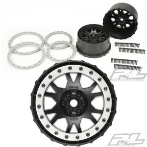 [AP2763-03] Impulse Pro-Loc Black Wheels with Stone Gray Rings
