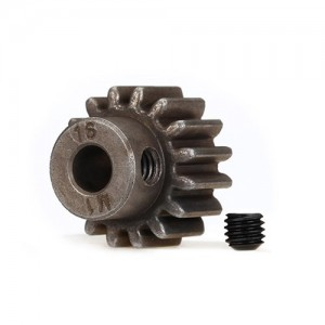 [AX6489X]Gear, 16-T pinion (1.0 metric pitch) (fits 5mm shaft)/ set screw (compatible with steel spur gears)