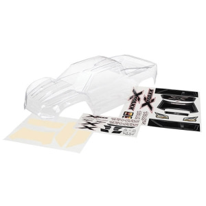 [AX7711] Body, X-Maxx (clear, trimmed, requires painting)/ window masks/ decal sheet (미도색바디)