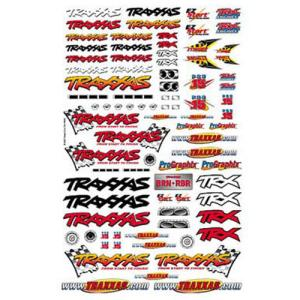 [AX9950] Official Team Traxxas racing decal set (flag logo/ 6-color) - 오피셜 팀 트락사스 레이싱 데칼 셋트
