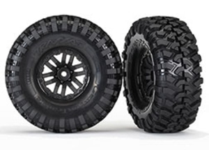 AX8272 Tires and wheels, assembled, glued (TRX-4 wheels, Canyon Trail 1.9 tires) (2)