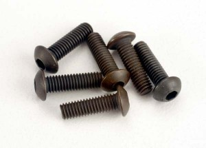 AX2577 Screws 3x10mm button-head machine (hex drive) (6)