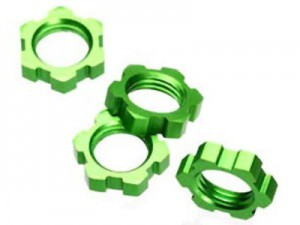 [AX5353A] Traxxas 5353A Wheel Nuts Splined 17mm Green (4)