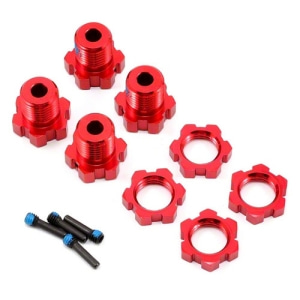 AX5353R Traxxas 17mm Splined Wheel Hub Set (Red) (4)