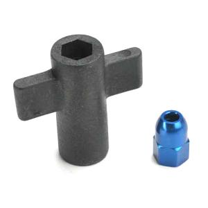 AX5526 Antenna crimp nut, aluminum (blue-anodized)/ antenna nut tools