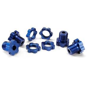 AX5353X Wheel hubs, splined, 17mm (blue-anodized) (4)