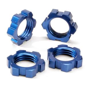 AX5353 Wheel nuts, splined, 17mm (blue-anodized) (4)