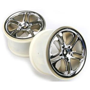 AX5172X Wheels, SS (Split-Spoke) 3.8 (chrome) (2) (fits Revo/Maxx series) (14mm HEX)