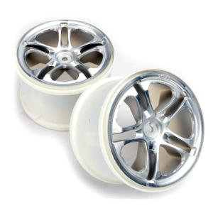 AX5172 Wheels, SS (Split-Spoke) 3.8 (satin) (2) (fits Revo/Maxx series) (14mm HEX)