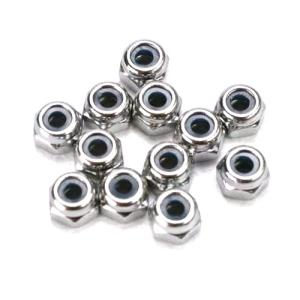 AX5158 Nuts, 2.5mm nylon locking (12)
