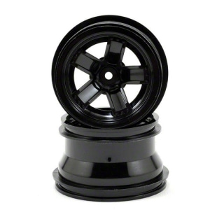 AX7671 Traxxas LaTrax Teton 5-Spoke Wheels (Black) (2)