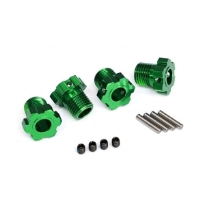 AX8654G Wheel hubs, splined, 17mm (green