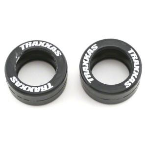 AX5185 Tires, rubber (2) (fits Traxxas wheelie bar wheels)