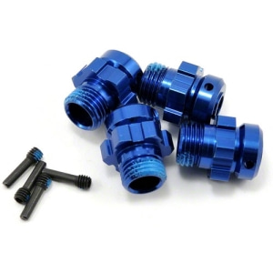 AX6469 Traxxas 17mm Aluminum Splined Wheel Hub Set (Blue) (4)