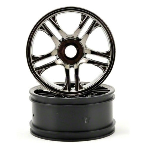 AX6478 Traxxas Front Wheels (Black Chrome) (2)