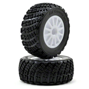 AX7473 Pre-Mounted BFGoodrich Rally Tire & Rally Wheel (White) (2)