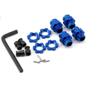 AX6856X Aluminum 17mm Wheel Adapter Set (Blue) (4)