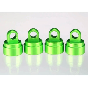 AX3767G Shock caps, aluminum (green-anodized) (4) (fits all Ultra Shocks)