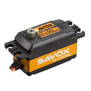 "[88889009] Savox SC-1251MG Low Profile Digital ""High Speed"" Metal Gear Servo - 히트싱크가 금색입니다."