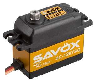 "[SC-1267SG] Savox SC-1267MG ""Super Speed"" Digital Steel Gear Servo (High Voltage)"