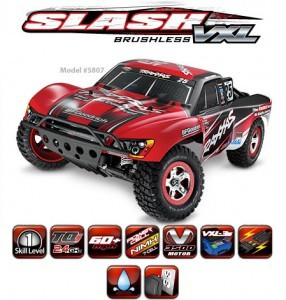 슬래시 2륜 브러시리스 1/10 Slash VXL 2WD Brushless Short-Course Race Truck RTR CB5807