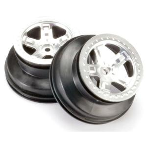 AX5872 Wheels, satin chrome, 2.2 (5-spoke, beadlock style) (rear)