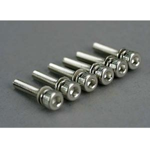 AX5142 Screws, 3x15mm cap-head machine (hex drive) (with split and flat washers) (6)