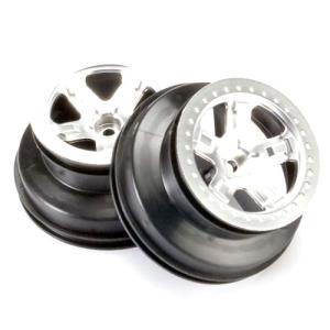 AX5874 Wheels, satin chrome, 2.2 (5-spoke, beadlock style) (front)