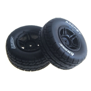 L-T3154SBTR SC-ROCKET 1/10 SC Tire Soft Compound/Max 2.2인치/3.0인치 Black Rim 본딩완료 (반대분)