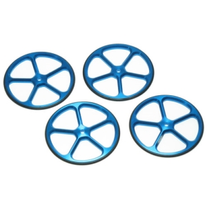 YT-0069BU Yeah Racing Aluminum Set Up Wheels for 1:10 RC Touring Car (BU)
