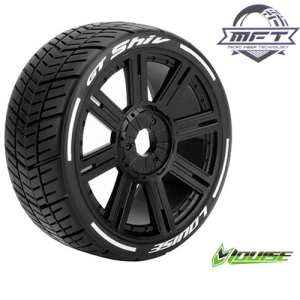 L-T3284SB GT-SHIV MFT 1/8 GT TIRE SOFT / BLACK SPOKE RIM / MOUNTED (본딩완료 / 반대분)