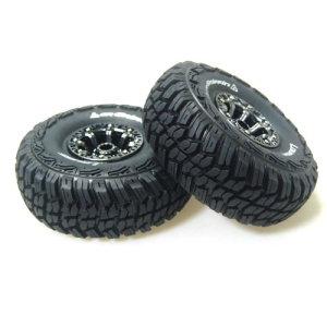 L-T3235VBC CR-GRIFFIN 1/10 Scale 2.2인치 Crawler Tire Super Soft Compound / Black Chorme Spoke Rim / 12mm HEX