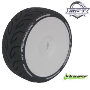 L-T3285VW GT-TARMAC MFT 1/8 GT TIRE SUPER SOFT / WHITE DISH RIM / MOUNTED (본딩완료 / 반대분)