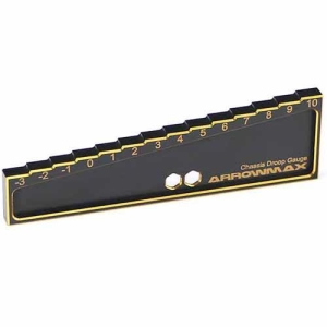 AM-171013 Chassis Droop Gauge -3 to 10mm for 1/8, 1/10 Cars (20mm) Black Golden