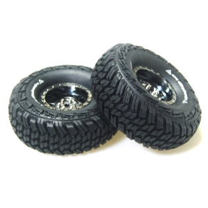 L-T3230VBC CR-GRIFFIN 1/10 Scale 1.9인치 Crawler Tires Super Soft Compound / Black Chrome Rim / 12mm HEX