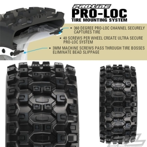 AP10131 Badlands MX43 Pro-Loc All Terrain Tires for Pro-Loc X-MAXX Wheels Front or Rear