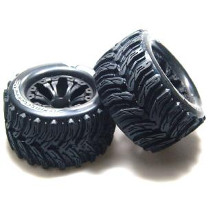 L-T3226SBH MT-CYCLONE 2.8인치 TRUCK TIRES TRAXXAS BEAD SOFT COMPOUND/BLACK 1/2 OFFSET RIM/MOUNTED (반대분)