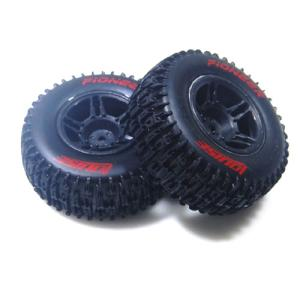 L-T3148SBTF SC-PIONEER 1/10 SC Tire Soft Compound/Max 2.2인치/3.0인치 Black Rim (For Traxxas Slash Front) 본딩완료 (반대분)
