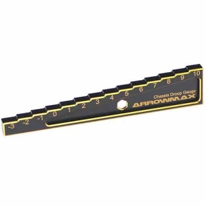 AM-171012 Chassis Droop Gauge -3 to 10mm for 1/10 Car (10mm) Black Golden