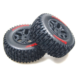 L-T3148SBLA SC-piONEER 1/10 Short Course 2.2인치x3.0인치 Tires Soft Compound / Black Rim (LOSI SCTE 4x4) / 본딩완료(반대분)